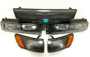 JDM NISSAN SILVIA S13 Genuine Headlight Front Grill Corner Lens OEM Very Rare