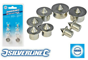 Silverline Dowel Centre Point Set 6 - 12mm Woodwork Joinery Kitchen Jig 8 pieces