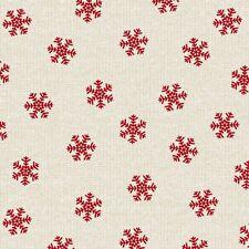 Christmas Fabric - Holiday Road Trip Snowflake Toss Biege - Studio E YARD
