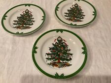 Vintage Lot of 3 7.5� Christmas plates Yule tide Georges briard fast ship
