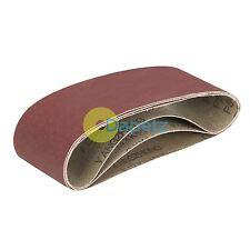 Cinturones de lijado para Triton Palma Lijadora de banda 80/100/120G Cinturones de Lijado 3Pk