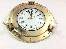 """6"""" Decor Nautical Antique Marine Brass Ship Porthole Battery Quartz Wall Clock"""