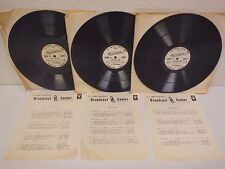 "Lot (3) Vintage Military/Armed Forces Army Ebony & Ivory Radio 12"" Vinyl Records"