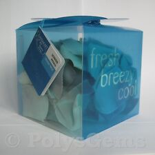 1 BOX OF 100 BLUE SCENTED ROSE PETALS  FRAGRANCE OCEAN MIST IDEAL GIFT