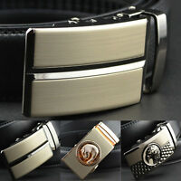 Mens Business Automatic Buckle Genuine Leather Waist Strap Belts HOT Black Brown