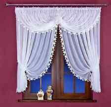 Beau voilage blanc rideau filet avec dentelle, fenêtre maison Décorations