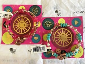 Alex and Ani HAVEN Summer Daze Wrap ~ Ocean or Coral in Shiny Rose Gold