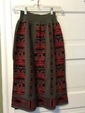 RODIER GREY WOOL SKIRT MADE IN BRAZIL Sz 2 STRETCH NICE UNIQUE