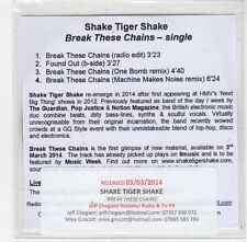 (FE81) Shake Tiger Shake, Break These Chains - 2014 DJ CD