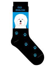 Old English Sheepdog Socks Lightweight Cotton Crew Stretch