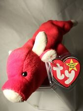 TY Beanie Babies RARE Retired Snort w Tag Errors PVC 1ST EDITION Christmas Gift!