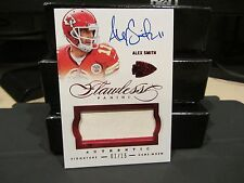 Panini Flawless Ruby On Card Autograph Jersey Chiefs Alex Smith 01/15  2015