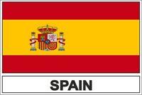 Sticker adesivi adesivo bandiera E spagna