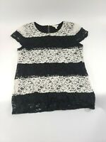 Womens ADIVA Floral Lace Blouse Size Large