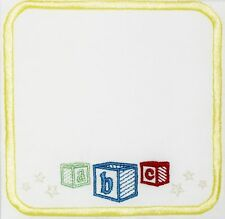 ABC Baby Blocks embroidered Quilt Label to customize with your own message