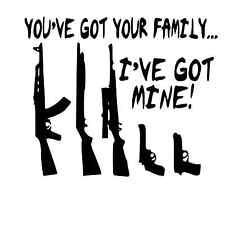 "Gun Family Window Sticker Decal 5"""