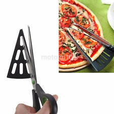 Stainless Pizza Scissors Cutter Tray Slicer Divider Food Serving Tool New UK