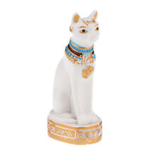 Resin Egyptian Mau Cat Statue Sculpture Hand Carved 00004590  Fengshui Figurine Decor