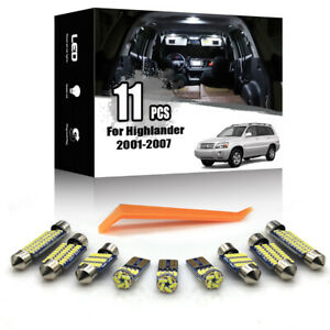 11x For Toyota Highlander 2001-2007 Interior LED Lighting Package Kit CAN-BUS