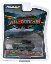 1:64 GreenLight *ALL-TERRAIN 1* Green & Black 2015 Jeep Wrangler HARD ROCK *NIP*