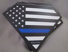 WHOLESALE LOT OF 10 POLICE BLUE LINE FLAG  MAGNETS SUPPORT LAW ENFORCEMENT 5 USA