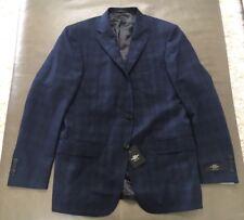 NWT Hart Schaffner Marx New York USA Navy Blue Plaid Sportcoat Blazer 40R $595