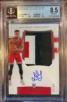 2019-20 National Treasures Daniel Gafford 3-color patch RPA /99 BGS 8.5 NM-MT+
