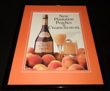 1986 Plantation Peaches Cream Liqueur Framed 11x14 ORIGINAL Advertisement