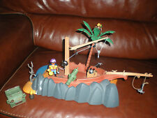 LOT PLAYMOBIL LE BATEAU PIRATE ECHOUE