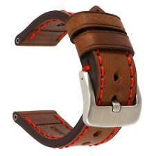 26mm NEW COW Leather Strap Brown Watch Band for fits PANERAI Red Tang x1