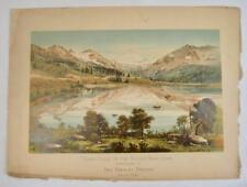 Trout Lake In Silver San Juan 1892 Color Art Print Denver Litho Great Divide (O)