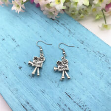 Movie Charm Earrings Film Projector Earrings Movie Buff Earrings Camera Reel