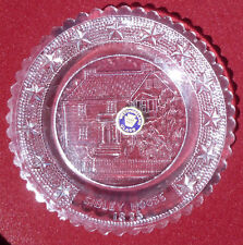 Henry Hastings Sibley House Westmoreland Pressed Glass Coaster Cup Plate