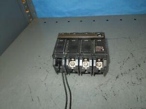 GE THQB32040ST1 40A 3P 240V Shunt Trip Circuit Breaker (TQST1) MOD 2 Used
