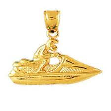14k Yellow Gold JET SKI BOAT Pendant / Charm, Made in USA