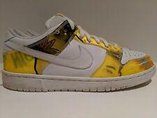 2005 Nike Dunk Low Pro SB De La Soul White Yellow Size 12 304292 171