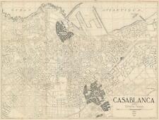 1941 Maroc Presse City Map or Plan of Casablanca, Morocco