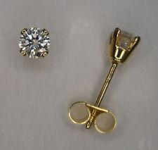 18 Carat Stud Yellow Gold Fine Earrings