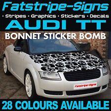 AUDI TT GRAPHICS BONNET STICKER BOMB ROOF CAR GRAPHICS DECALS STICKERS 1.8 SKULL