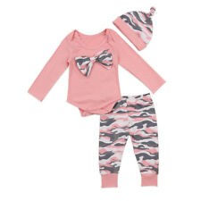 US Stock Baby Boys Girls Tops T-shirt Pants Leggings Striped Outfits Set Clothes
