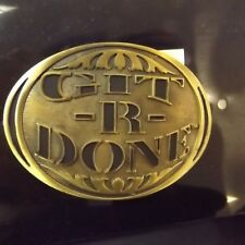 Git R Done Belt Buckle Larry The Cable Guy Montana Silversmiths Attitude Buckles