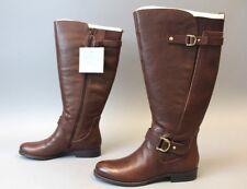 Naturalizer Women's Jenelle Wide Calf Tall Boots TW4 Bridal Brown Size 9M