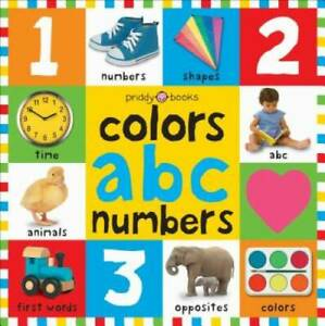 Bright Bbaby colors, abc, & numbers first words (First 100) - Board book - GOOD