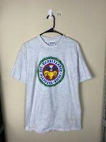 Mens XL Rennaisance Pleasure Fair Gray 25th Year 90s Graphic Shirt VTG USA MADE