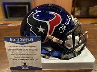 Deshaun Watson Autographed Houston Texans Riddell Chrome Mini Helmet Beckett #2