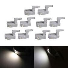 10x 3LED Universal Cabinet Cupboard Closet Wardrobe LED Hinge Light Smart Sensor