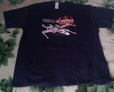 Star Wars Incom T65 X-Wing T Shirt Blue, Size XL Luke Skywalker Tie Fighter