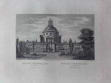 GRAVURE 1840 POLOGNE POLAND POLSKA EGLISE EVANGELIQUE VARSOVIE WARSZAWIE