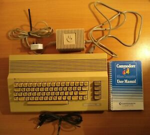 Commodore 64C computer - With JiffyDOS ROM switch, power supply & instructions