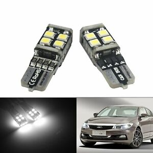2x T10 501 W5W LED Sidelight Parking License Number Plate Light Bulbs DRL Canbus